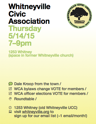 May 2015 meeting announcement