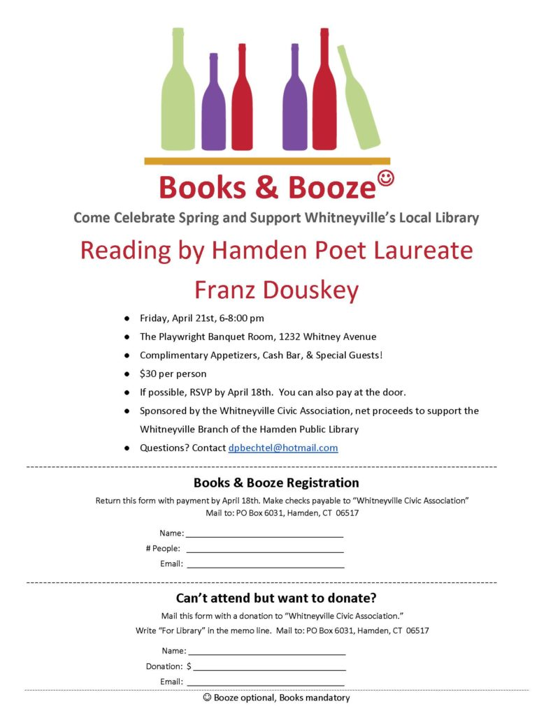 Library fundraiser flyer